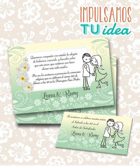Tarjeta De Boda Para Imprimir Invitación Y Personal L Y R
