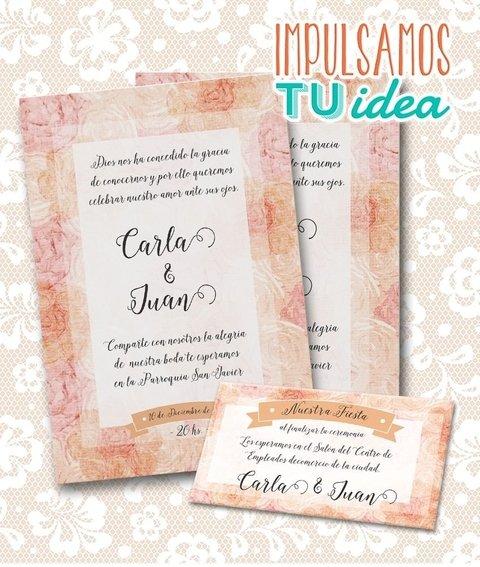 Invitación De Boda Para Imprimir Tarjeta Y Personal Carla