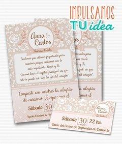 Invitación De Boda Para Imprimir Tarjeta Y Personal Ana