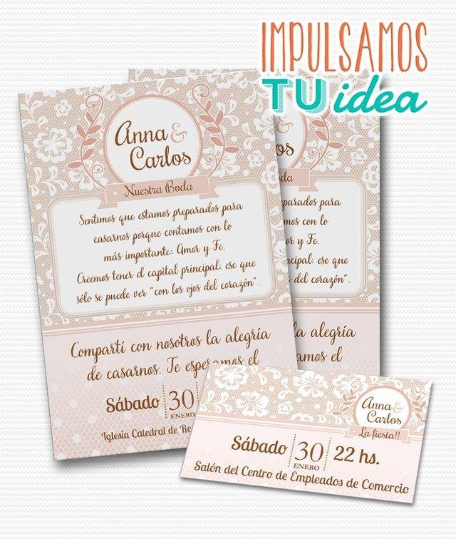 Invitacion De Boda Para Imprimir Tarjeta Y Personal Ana - Ver-invitaciones-de-boda