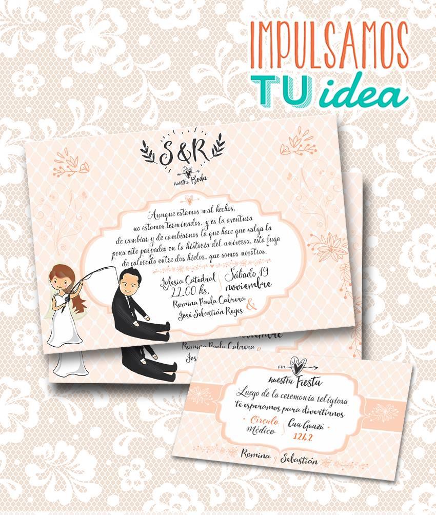 Tarjeta de boda invitaci n de casamiento para imprimir - Disenos tarjetas de boda ...