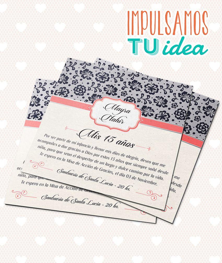 Tarjeta De 15 Invitación De Quince Cuadrada Para Imprimir