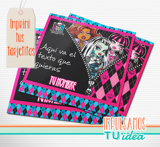 Monster high - Invitación para imprimir