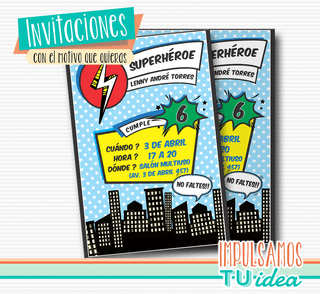 Cumple superhéroes, invitación superhéroes imprimible