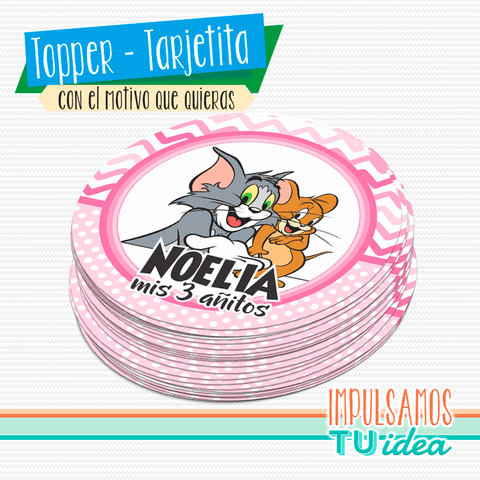 Cumple tom y jerry, topper nena tom y jerry IMPRIMIBLE - comprar online