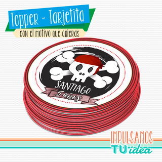 Cumple pirata, topper cumple pirata IMPRIMIBLE - comprar online