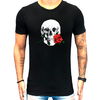 Camiseta Paradise Red rose skull
