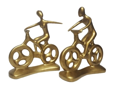 2094 - ESCULTURA HOBBY COLLECTION BIKE H 27,5CM - GOLD