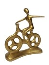 2094 - ESCULTURA HOBBY COLLECTION BIKE M 25,5CM - GOLD