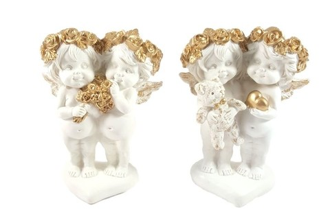 8950 - ANJOS FLORET COLLECTION  EDI. GOLD 12,5CM  2MOD JG C/2 - comprar online