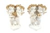8950 - ANJOS FLORET COLLECTION  EDI. GOLD 12,5CM  2MOD JG C/2