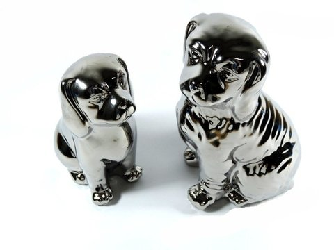 2183 - KIT 2 DOG SILVER 16/19CM