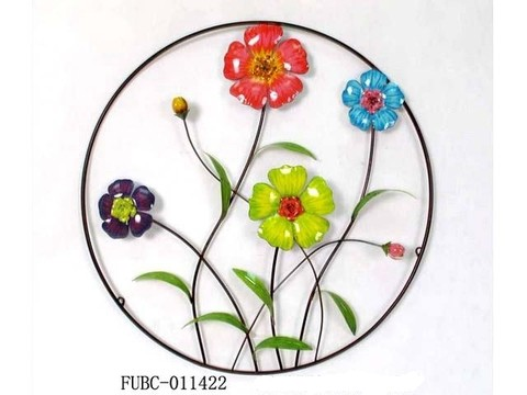 FUBC - PLACA P/PRD MT RED FLORES CLR 72CM