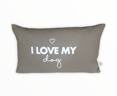 "ALMOHADÓN ""I LOVE MY DOG"" ELEFANTE"