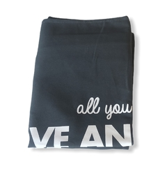 "FUNDA ""ALL YOU NEED"" GRIS TOPO"