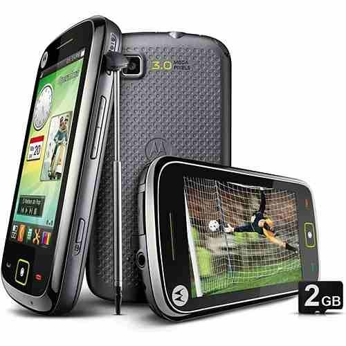 MOTOROLA EX245 PRETO TV DIGITAL/CAM3.2MP/2GB/TOUCH SCREEN