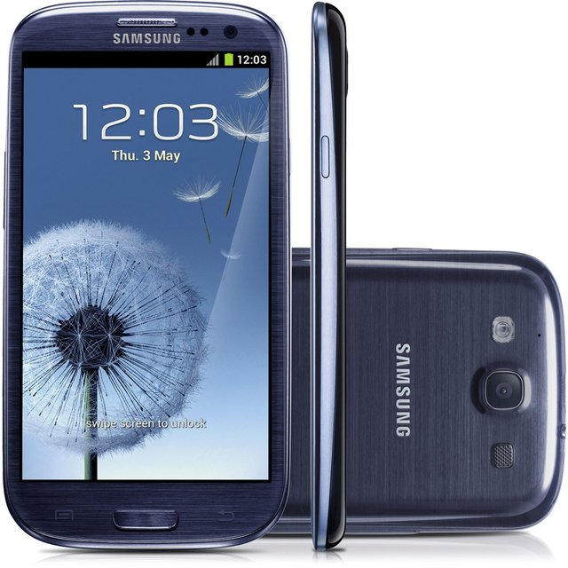 SAMSUNG GALAXY SIII I9300 GRAFITE ANATEL 16GB 8MP 3G WIFI GPS