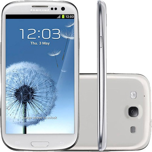SAMSUNG GALAXY SIII I9300 BRANCO ANATEL 16GB 8MP 3G WIFI GPS