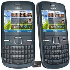 CELULAR NOKIA C3 GRAFITE COM CÂMERA 2MP, QWERTY, WI-FI, MP3, FM, BLUETOOTH