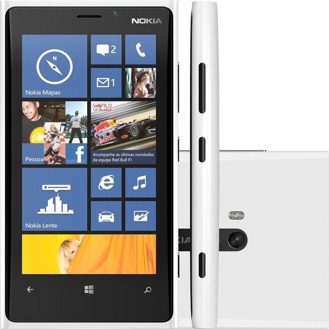 SMARTPHONE NOKIA LUMIA 920 branco WINDOWS PHONE 8, TELA DE 4,5