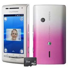 SONY ERICSSON XPERIA X8 BRANCO/ROSA ANDROID 2.1 C/ CÂMERA 3.2MP, WI-FI, 3G, BLUETOOTH, TOUCH