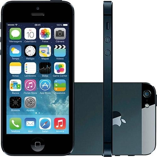 IPHONE 5 16GB PRETO SEMI NOVO COM GARANTIA E NF