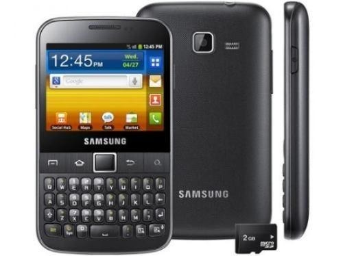 Celular Samsung GT-B5510B, Android 2.3, Foto 3.15 Mpx, 1 Core 832 MHZ, Quad Band (850/900/1800/1900)