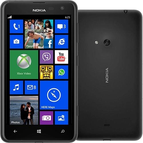 Celular Desbloqueado Nokia Lumia 625 Preto com Windows Phone 8, Tela 4.7