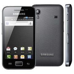 SAMSUNG GALAXY ACE S5830 PRETO COM CÂMERA 5.0, ANDROID 2.2, GPS, WI-FI, 3G, BLUETOOTH, MP3, TOUCH SCREEN E FONE