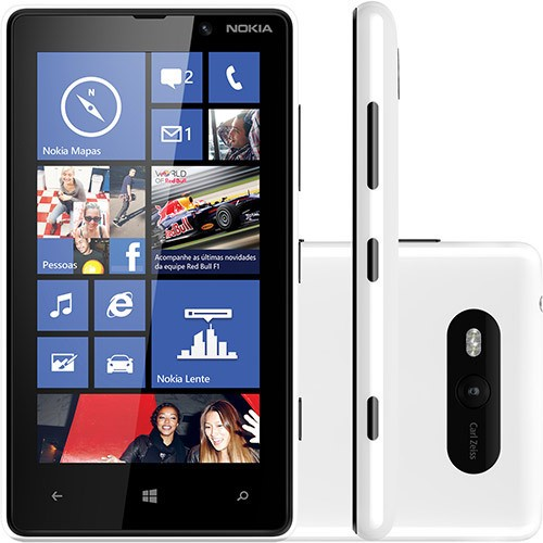 NOKIA LUMIA 820 BRANCO NACIONAL CAM 8MP 8GB 4G GPS