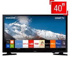 "Smart TV LED 40"" Full HD Samsung 40J5200 com Connect Share Movie, Screen Mirroring, Wi-Fi, Entrada HDMI e USB"