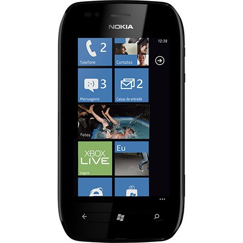 Celular Nokia Lumia 710 Preto com Windows Phone, Câmera 5MP, Touch Screen, 3G, Wi-Fi na internet