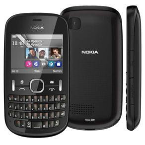 NOKIA ASHA 200 GRAFITE COM DUAL CHIP, QWERTY, CÂMERA 2MP, RÁDIO FM, BLUETOOTH