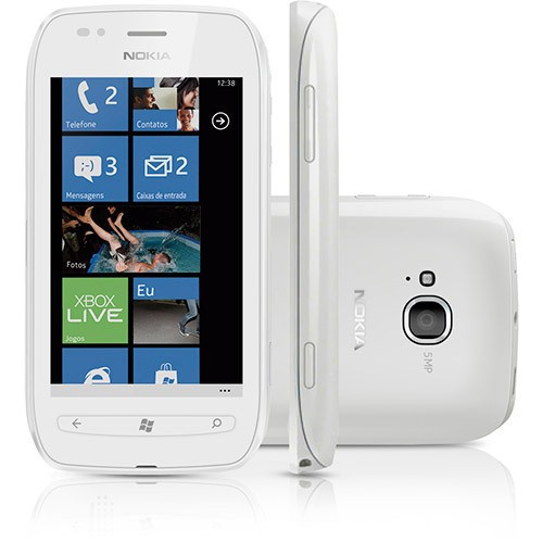 CELULAR NOKIA LUMIA 710 BRANCO COM WINDOWS PHONE, CÂMERA 5MP, TOUCH SCREEN, 3G, WI-FI