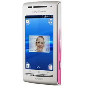 SONY ERICSSON XPERIA X8 BRANCO/ROSA ANDROID 2.1 C/ CÂMERA 3.2MP, WI-FI, 3G, BLUETOOTH, TOUCH - comprar online