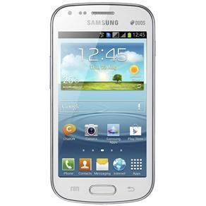 SAMSUNG GALAXY S DUOS BRANCO COM DUAL CHIP, CÂMERA 5MP, ANDROID 4.0, 3G, WI-FI, GPS, TELA FULL TOUCH, BLUETOOTH - comprar online