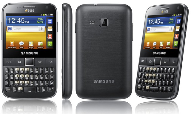 Smartphone Samsung Galaxy Y Pro Duos B5512 / Android 2.3 / 3G / Wi-Fi / 3.2MP / GPS / Qwerty na internet