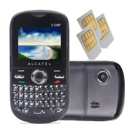 Celular Alcatel One Touch 678G, Tri Chip, 1.3MP, MP3, Bluetooth, Preto (Desbloqueado)