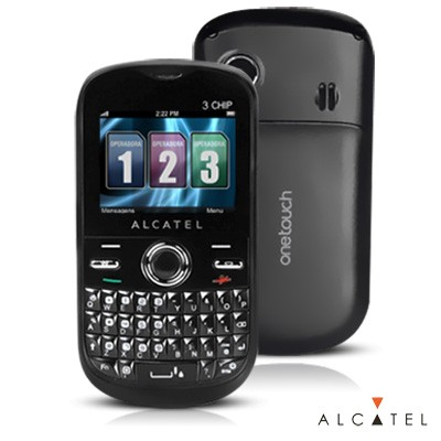 Celular Alcatel One Touch 678G, Tri Chip, 1.3MP, MP3, Bluetooth, Preto (Desbloqueado) - comprar online