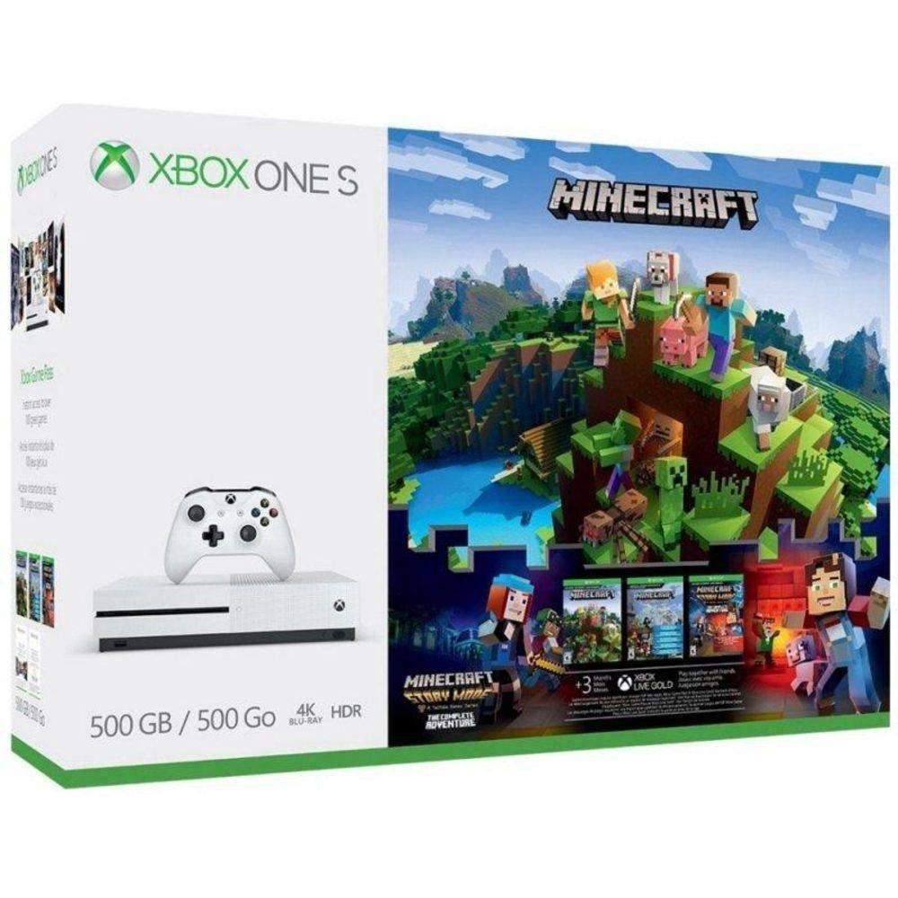 Console Xbox One S - Minecraft - 10Gb - infotecline