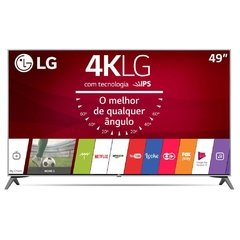 "Smart TV LED 49"" Ultra HD 4K LG 49UJ6300 com Sistema WebOS 3.5, Wi-Fi, Painel IPS, HDR, Quick Acess, Magic Mobile Connection, Music Player, HDMI e USB"