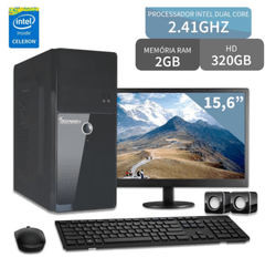 COMPUTADOR COM MONITOR 15.6 INTEL DUAL CORE 2GB 320GB 3GREEN