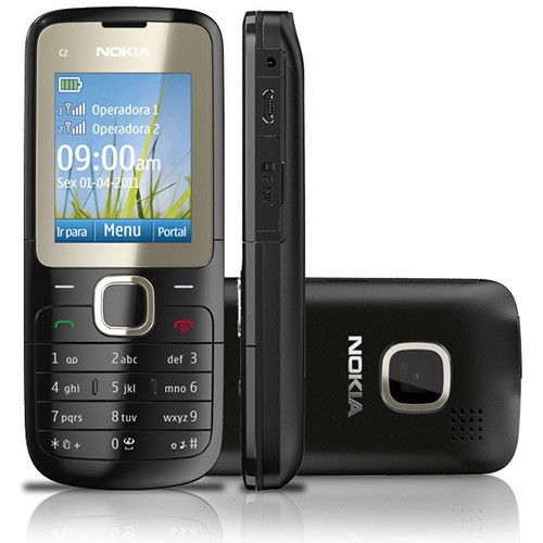 Imagem do NOKIA C2-00 PRETO DUAL CHIP ANATEL MP3 CAM RADIO FM