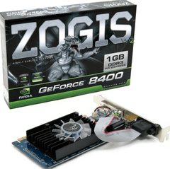 PLACA DE VIDEO GF 8400 DDR3 1GB PCI-E ZOGIS