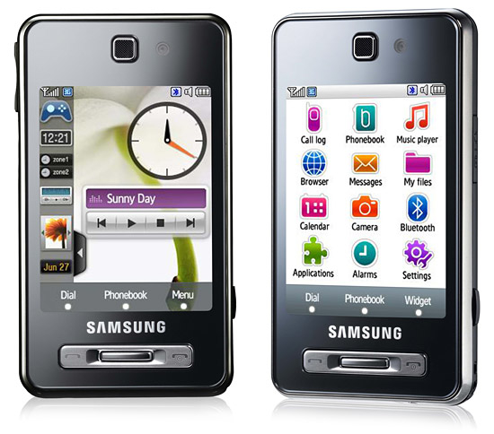 CELULAR SAMSUNG F450L, Bluetooth, player, radio, video conferência, mp3, Tri Band (900/1800/1900)