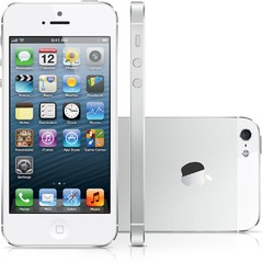 iPhone 5 16GB BRANCO Apple, iOS 6, Câmera de 8MP, 3G, Wi, Fi, GPS, Tela Multi-Touch 4""