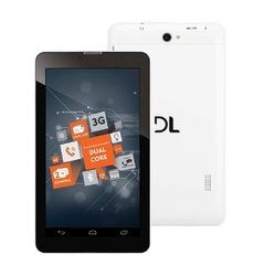 "Tablet DL TP254 3G Dual Chip Plus com Tela 7"", 8GB, Wi-Fi, Android, Bluetooth, 2 Câmeras e Processador Dual Core de 1.3Ghz - Branco"