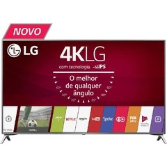 "Smart TV LED 49"" LG 49UJ6525 4K Ultra HD HDR com Wi-Fi 2 USB 4 HDMI DTV IPS e 120Hz"