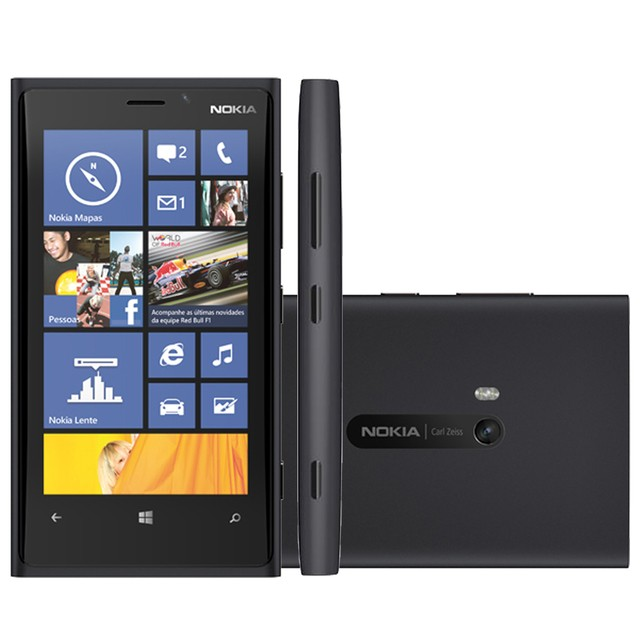 smartphone Nokia Lumia 920 Preto com Windows Phone 8, Tela de 4,5