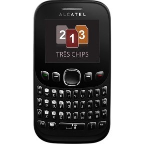 Imagem do Celular Alcatel One Touch 678G, Tri Chip, 1.3MP, MP3, Bluetooth, Preto (Desbloqueado)